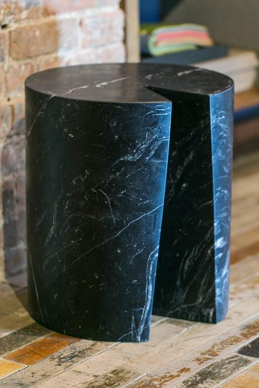 Modern Accent Table, Black Marble Bûche by Michel Amar Limited Edition 50 For Sale