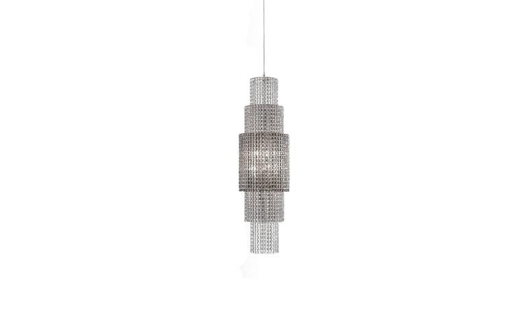 Lolli e Memmoli Phebo Crystal Light Fixture Hand-Crafted in Italy, Modern Design For Sale 2