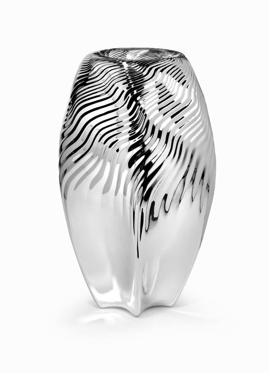 Silver Vases Mesmerizing Zaha Hadid Sterling Silver Vasewiener Silber Manufactur For Design Ideas