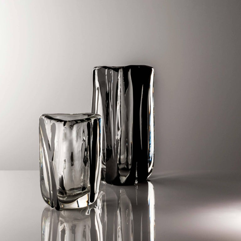 Large Triangolo Vase from the Black Belt Collection by Peter Marino & Venini 2