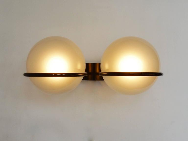 Model 237 2 wall sconce by gino sarfatti for arteluce italy 1960s amazing wall sconce in pearl colored glass by gino sarfatti for arteluce we have one aloadofball Gallery