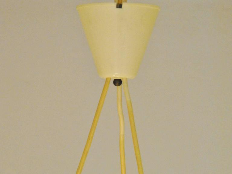 Mid-20th Century Vintage Triple Pendant Light, Denmark, 1960s For Sale