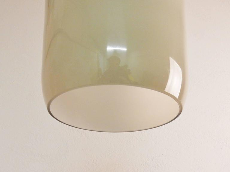 Mid-Century Modern Model's Largest Size Glass Pendant by Paolo Venini for Venini, Italy, 1950s For Sale