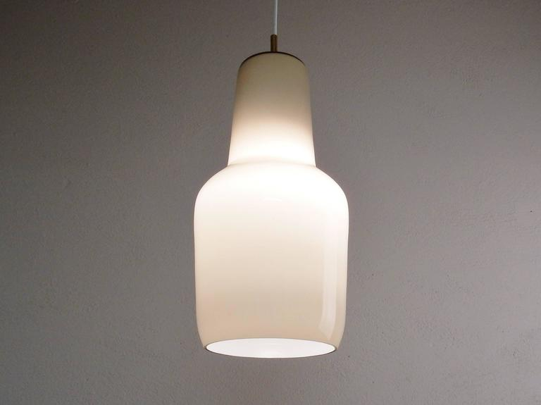 Italian Model's Largest Size Glass Pendant by Paolo Venini for Venini, Italy, 1950s For Sale