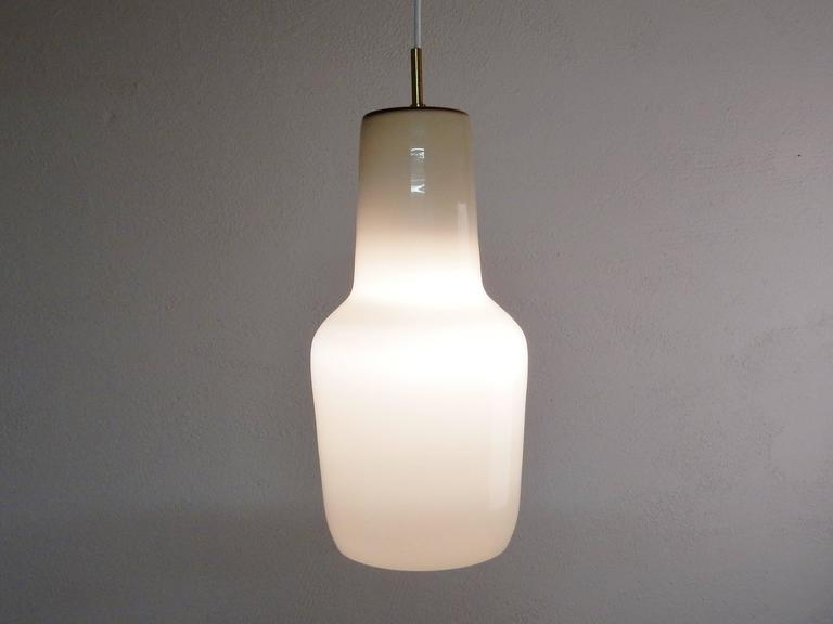 Brass Model's Largest Size Glass Pendant by Paolo Venini for Venini, Italy, 1950s For Sale