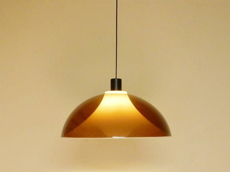 Mid-Century Modern 1960s Pendant Light, Attributed to Gino Sarfatti for Arteluce, Italy For Sale