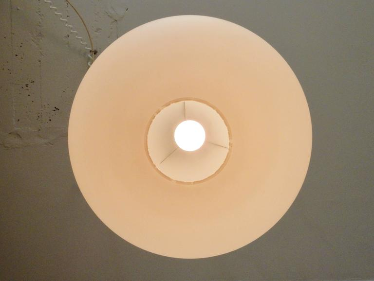 Mid-20th Century Large Opaline Glass Pendant Lamps, Netherlands, 1960s For Sale