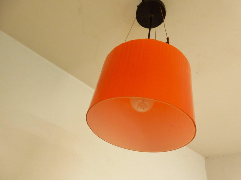 Dutch Ripple Structure Glass Pendant Light from Indoor, Netherlands, Early 1970s For Sale