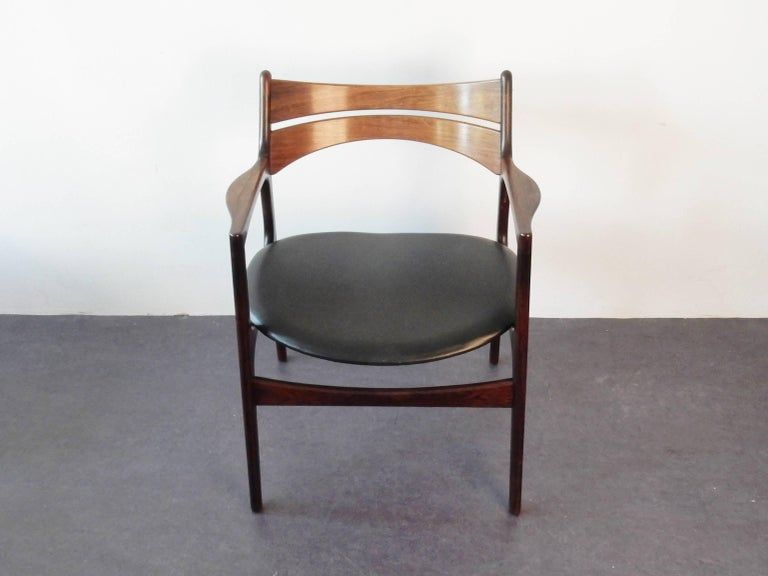 Chair By Erik Buck In Rosewood For Chr Christensens