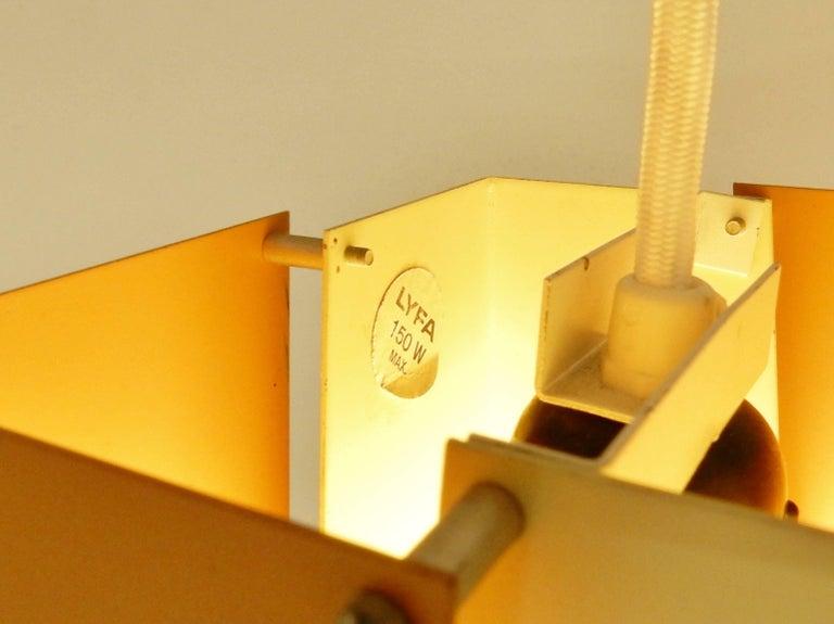 Sheet Metal Danish Design Pendant Lamp by Lyfa, Denmark, 1960s For Sale