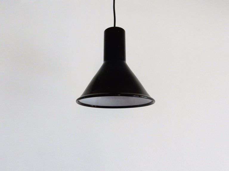 Mini P&T Pendant Lamp by Michael Bang for Holmegaard, Denmark, 1970s In Good Condition For Sale In Steenwijk, NL