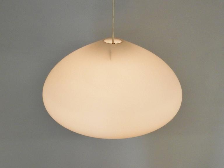Large Opaline Glass Pendant Lamps, Netherlands, 1960s For Sale 2