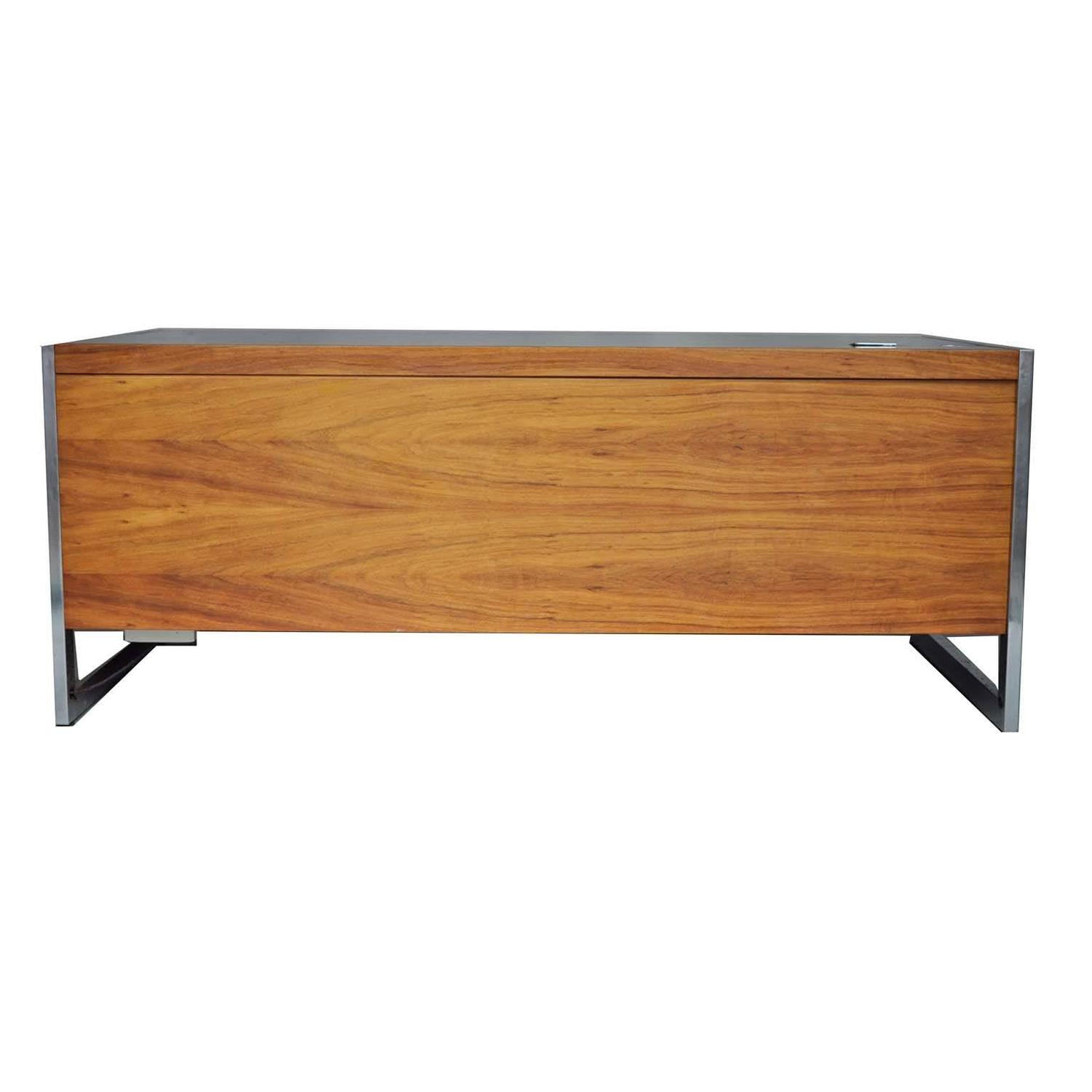 #884C28 Rosewood Executive Desk With Metal Base For Sale At 1stdibs with 1500x1500 px of Highly Rated Executive Writing Desk 15001500 picture/photo @ avoidforclosure.info