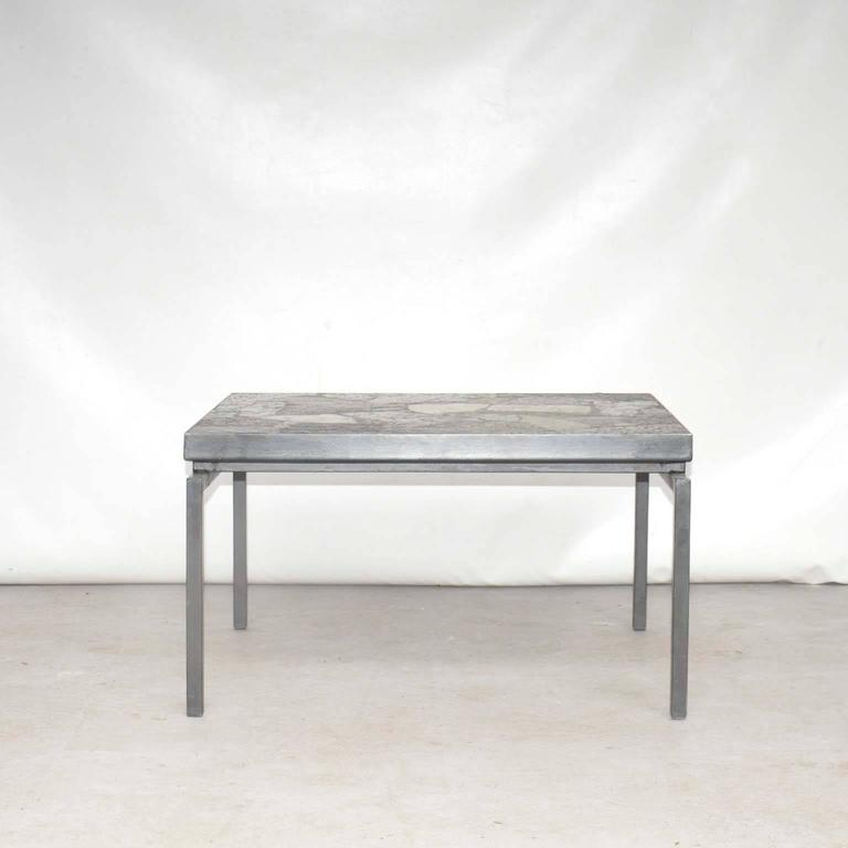 Mid-Century Brutalist Stone Mosaic Coffee Table, The