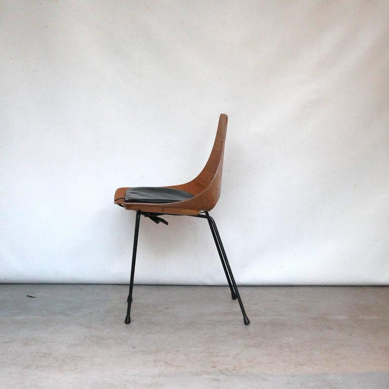 "Pierre Guariche ""Tonneau"" Dining Chair for Steiner, France, 1951 2"