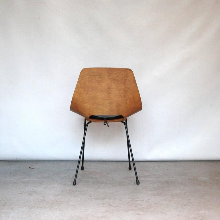 "Pierre Guariche ""Tonneau"" Dining Chair for Steiner, France, 1951 3"