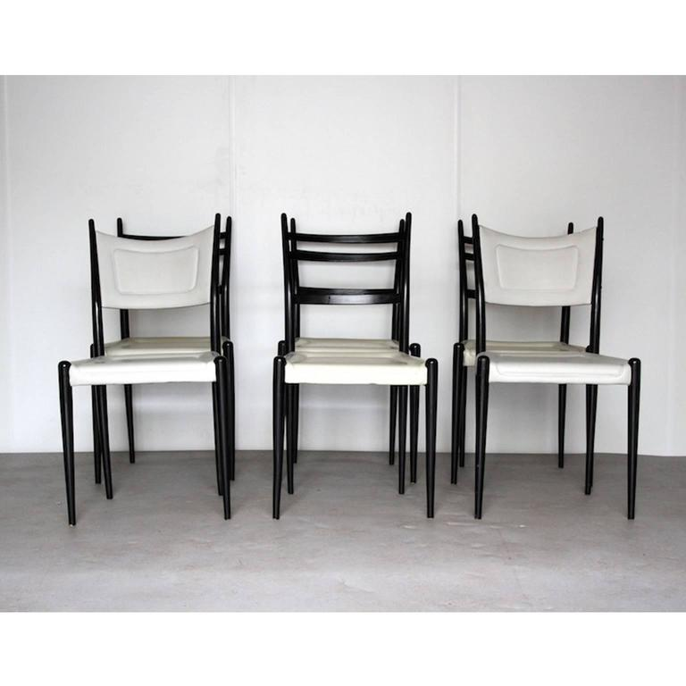 E gomme librenza wood and faux leather dining chairs by for G plan dining room furniture sale