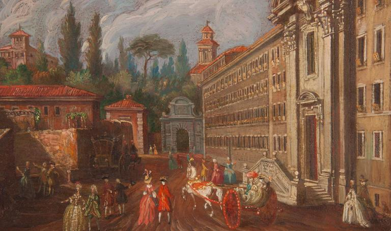 18th Century and Earlier Pair of Italian 18th Century Roman Views For Sale