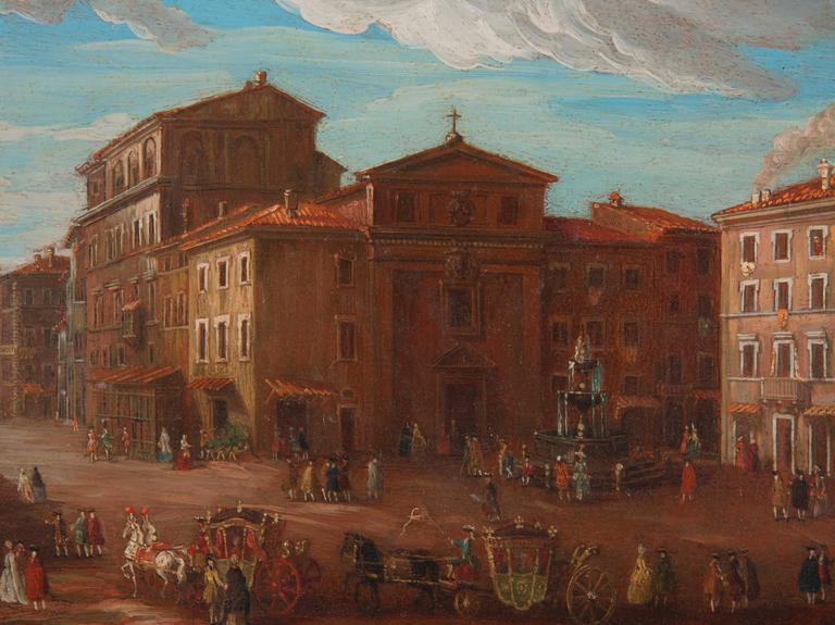 Pair of Italian 18th Century Roman Views For Sale 2