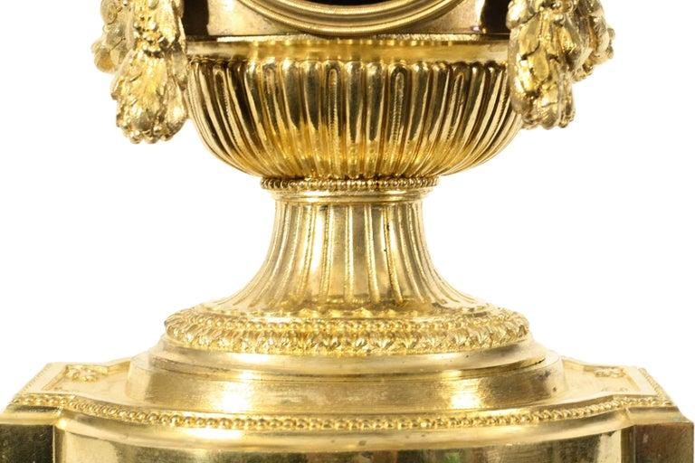 19th Century Louis XVI Style Ormolu Mantel Clock For Sale