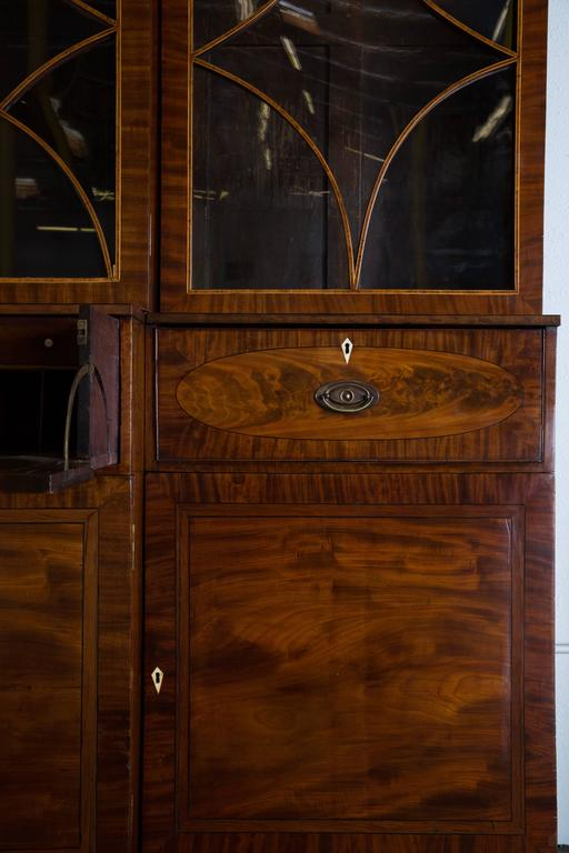 George III Mahogany Breakfront Secretary In Good Condition For Sale In Los Angeles, CA