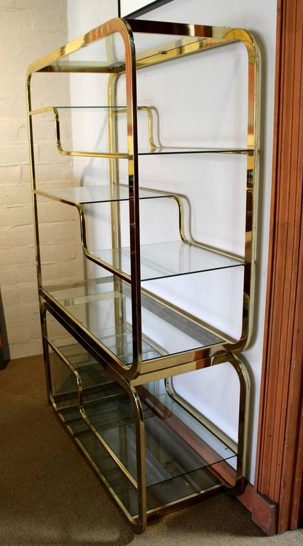 Design institute of american brass and glass etagere at 1stdibs - Etagere aluminium design ...