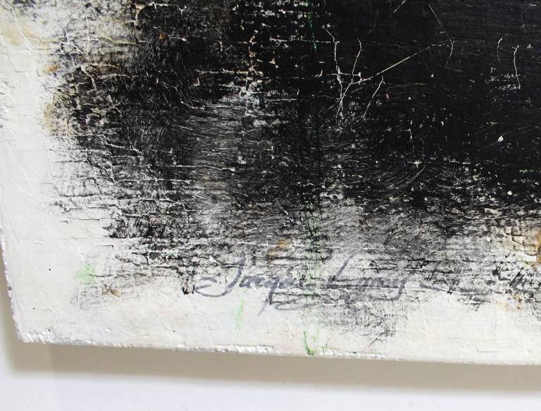 Contemporary Modern Minimal Abstract Painting by Artist Jacques Lamy In Excellent Condition For Sale In Dallas, TX