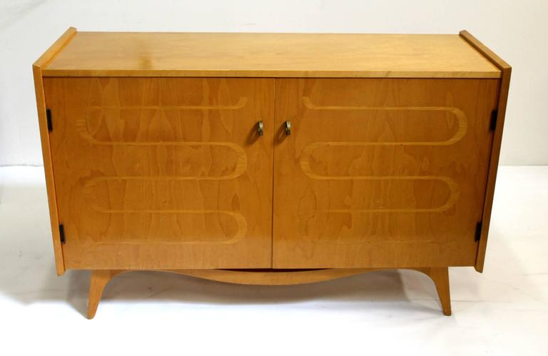 Scandinavian Mid Century Modern Swedish Maple Dresser Chest By Edmond Spence 2