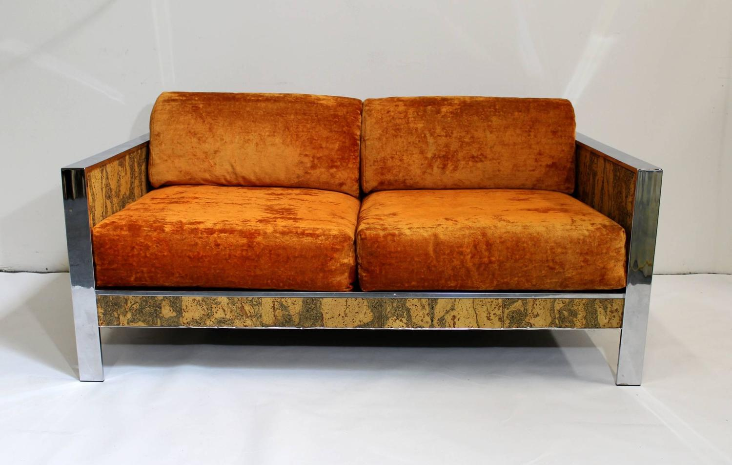 Milo Baughman Style 1970s Loveseat Sofa At 1stdibs
