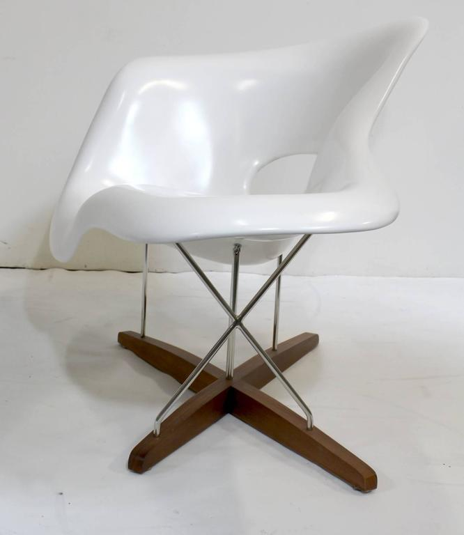 Eames vitra white la chaise chair at 1stdibs for Chaise bascule eames vitra