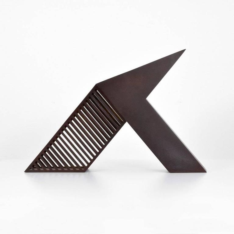 Minimalist Modern Bronze Desk Sculpture by John Raimondi For Sale