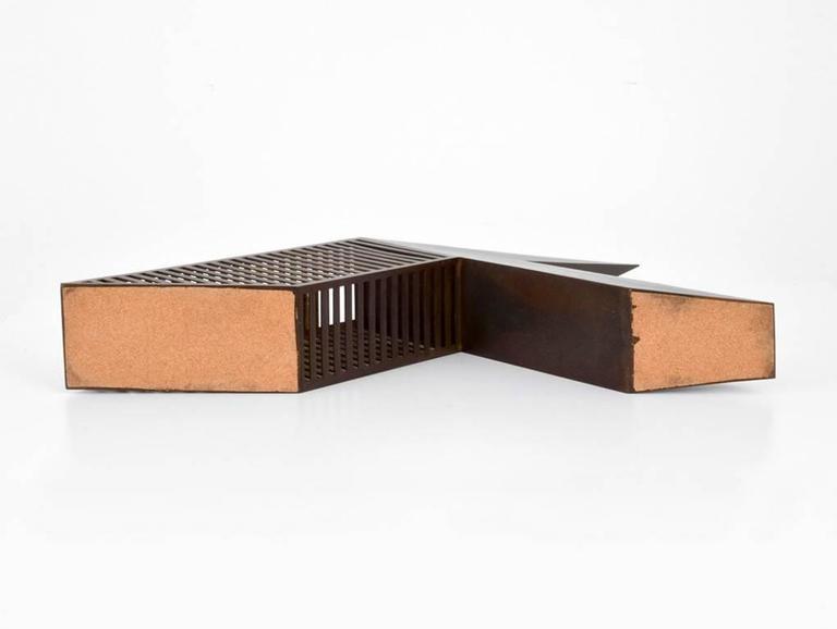 Late 20th Century Modern Bronze Desk Sculpture by John Raimondi For Sale