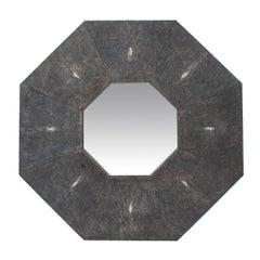 Modern Octagon Shagreen Mirror