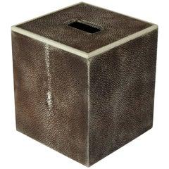 Brown Shagreen Tissue Box