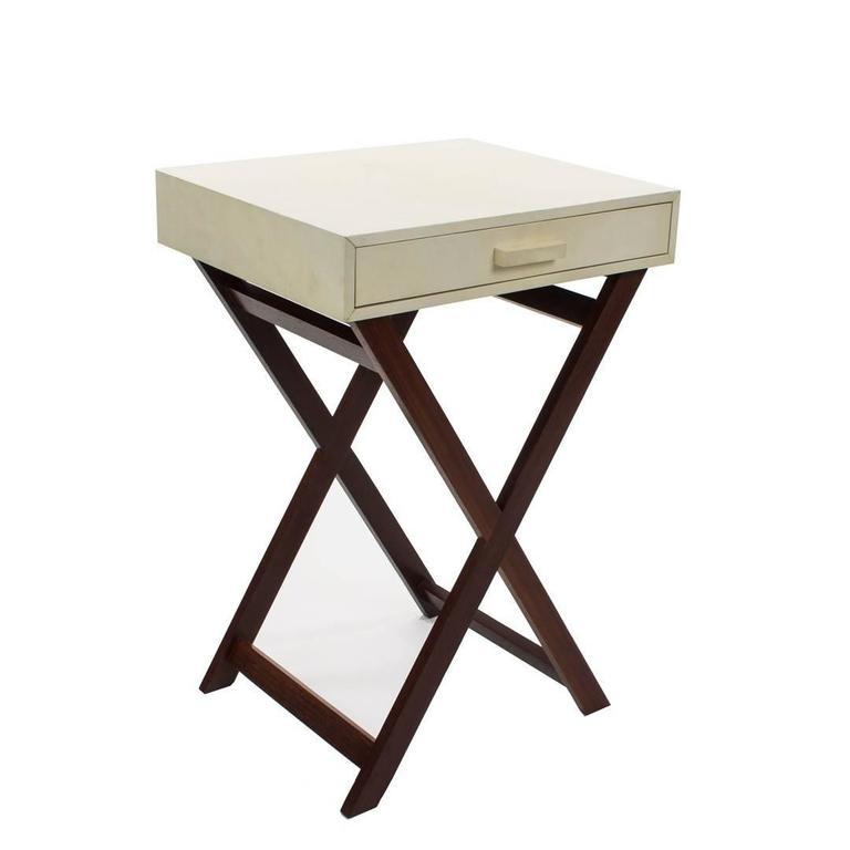 Parchment side table Custom sizes are available Please contact us for any other information