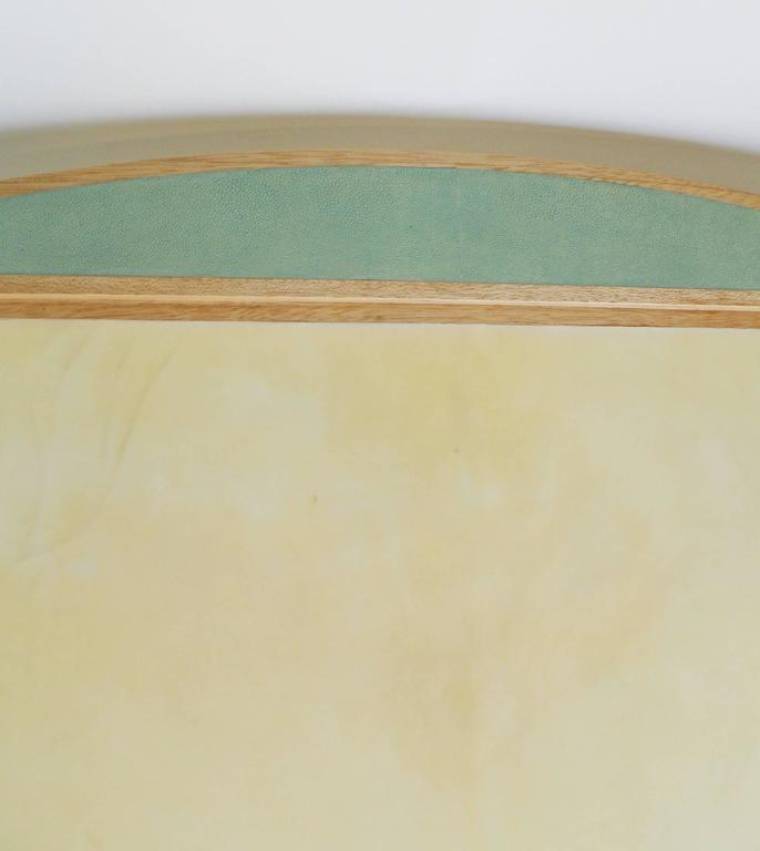 Beautiful Desk Blotter in Shagreen and Parchment 3
