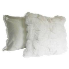 White Fox and Silk Pillows
