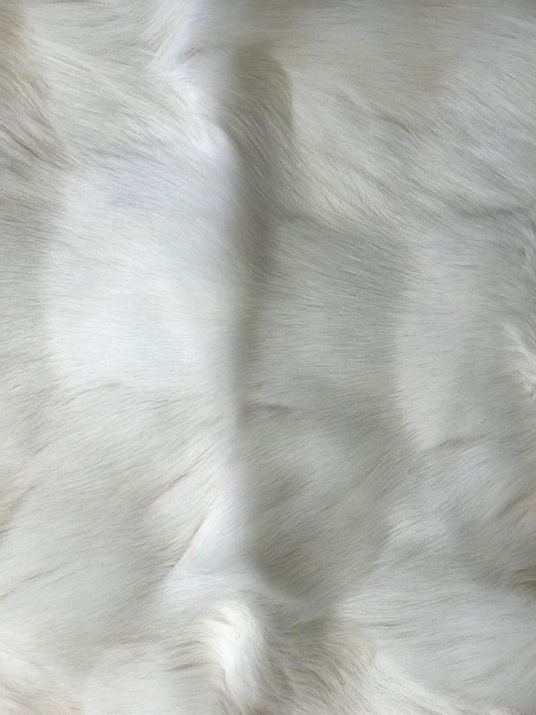 Modern White Fox and Silk Pillows For Sale