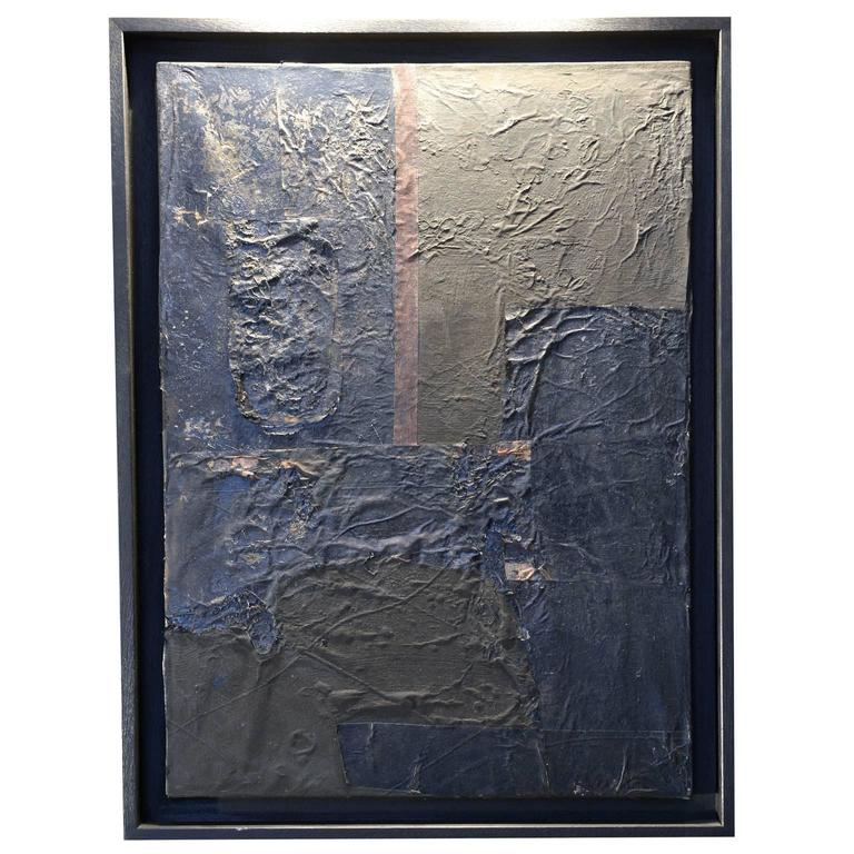 Black Framed Mixed-Media Painting by Matteo Giampaglia