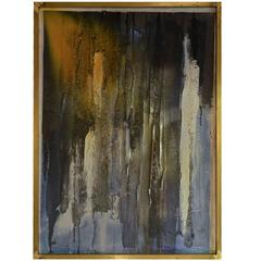 Abstract, Mixed Media Oil Painting on Paper by Walter Ladislao