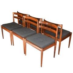 Set of Six Danish Rosewood Chairs, Denmark, 1960s