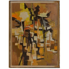Sherwood Suter, Abstract Painting, Oil on Canvas, USA, 1960s