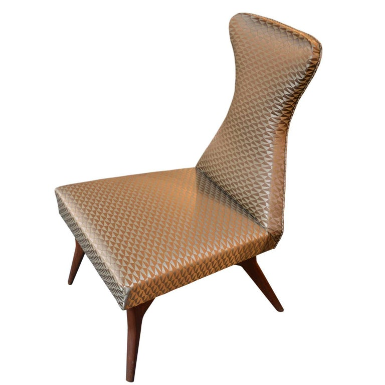 Mid-Century Modern Pair of Armchairs Attributed to Melchiorre Bega, Italy, 1950s For Sale