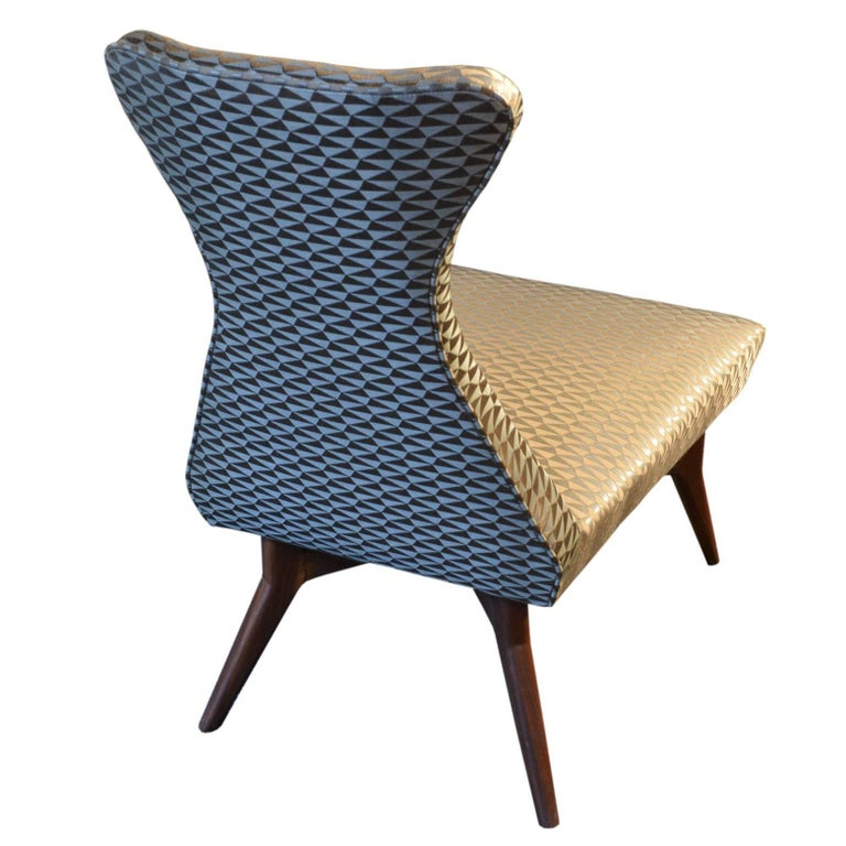 Italian Pair of Armchairs Attributed to Melchiorre Bega, Italy, 1950s For Sale