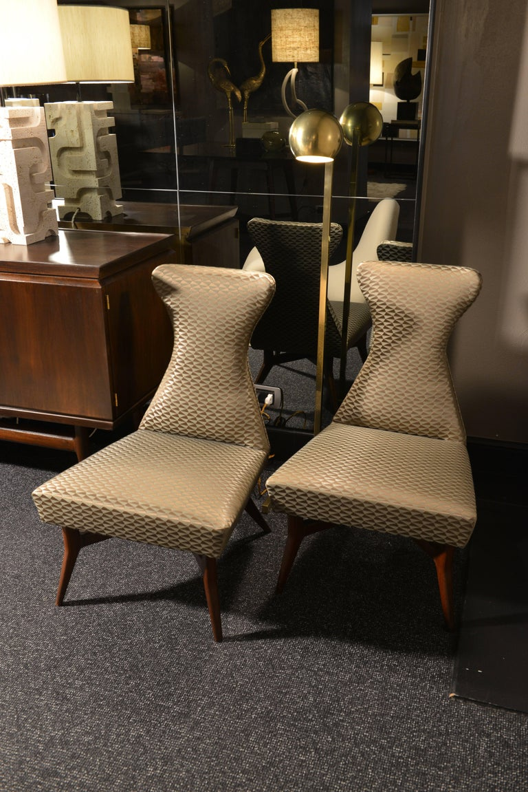 Pair of Armchairs Attributed to Melchiorre Bega, Italy, 1950s For Sale 3
