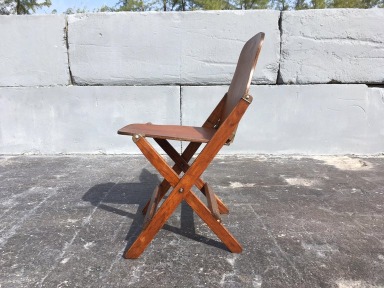 Mid-20th Century Set of Six Great Vintage Folding Chairs For Sale