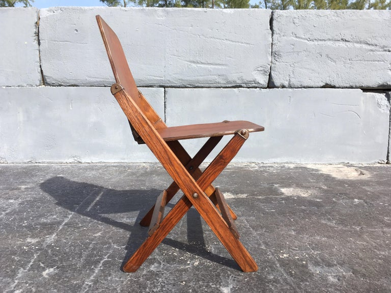 Wood Set of Six Great Vintage Folding Chairs For Sale