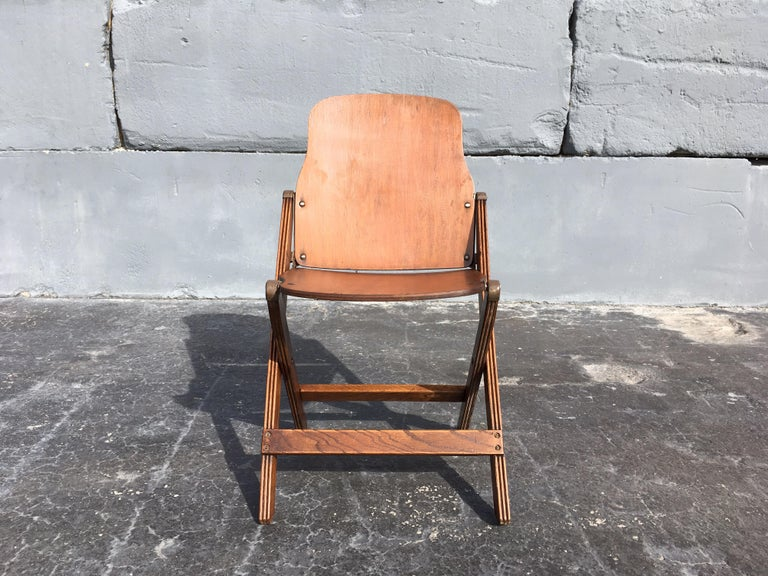 Set of Six Great Vintage Folding Chairs For Sale 3