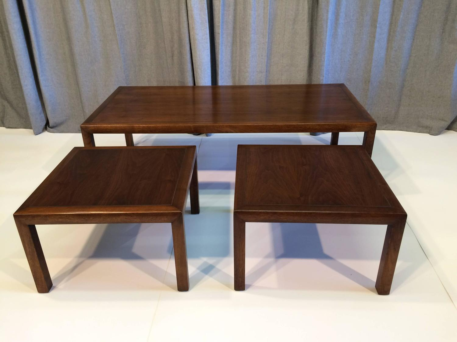 Knoll style coffee table with matching side tables for sale at 1stdibs Matching coffee table and end tables