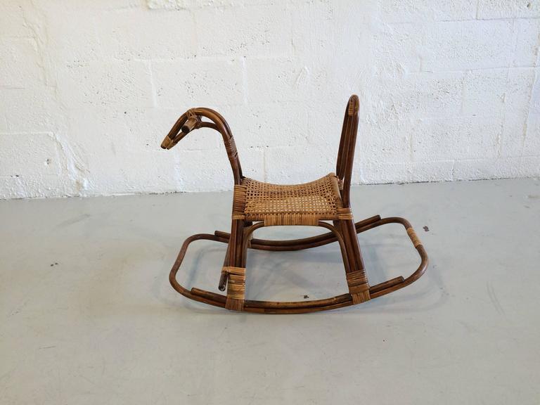Exceptional Mid Century Modern Swedish Childrenu0027s Rocking Horse Chair Rocker For Sale